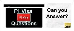 f1 visa questions