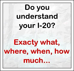Do you understand your I-20 form?