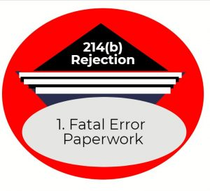 214b fatal error paperwork