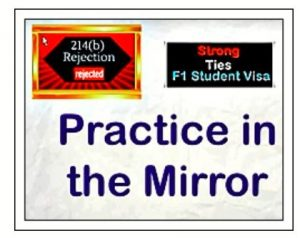 practice in the mirror